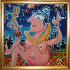 Salome, Mischtechnik auf Spanplatte, 2003