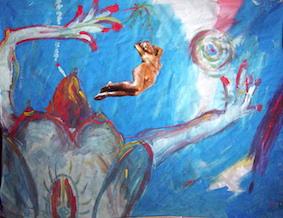 Female, Acryl auf Papier, 2004